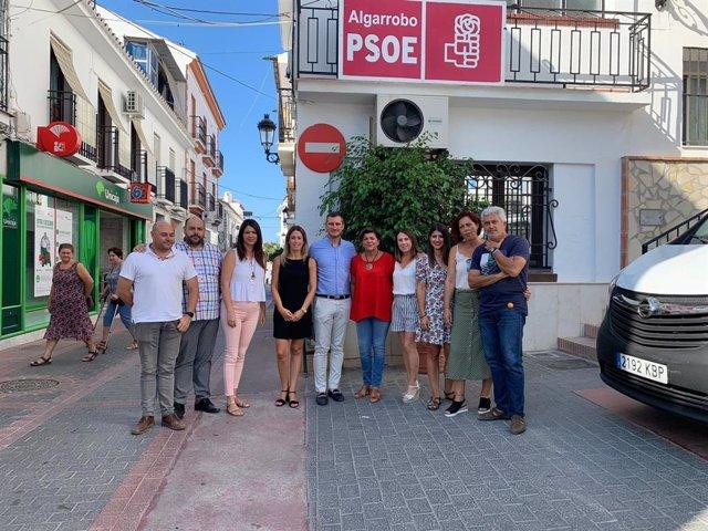 Alberto Perez y Fuensanta Lima (PSOE) en rueda de prensa en Algarrobo