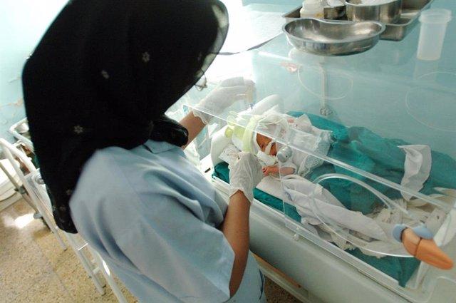 Matrona neonatal en Herat.