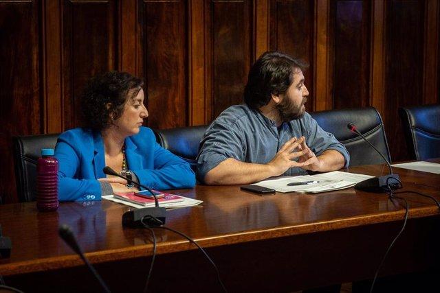 Los diputados del PSC en el Parlament de Catalunya, Alícia Romero y Ferran Pedret, en una imagen de archivo.