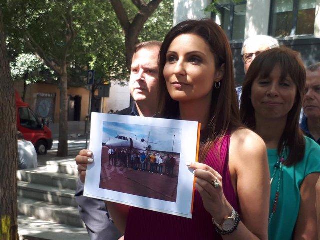 La portavoz de Cs, Lorena Roldán.