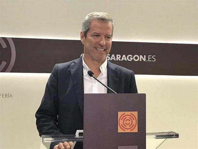El portavoz del grupo parlamentario de Cs de las Cortes de Aragón, Daniel Pérez Calvo