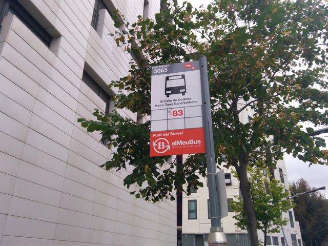 Parada del bus a demanda de Torre Baró
