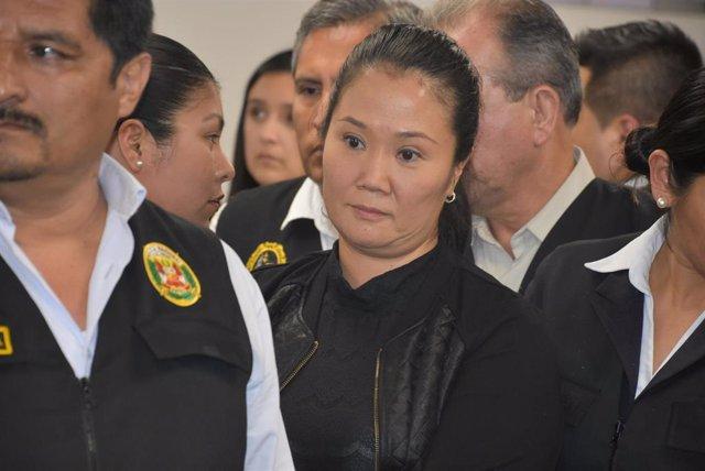 La dirigente opositora peruana Keiko Fujimori
