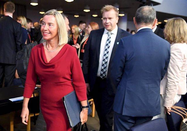 Irán.- Mogherini aboga por garantizar la seguridad en el estrecho de Ormuz pero
