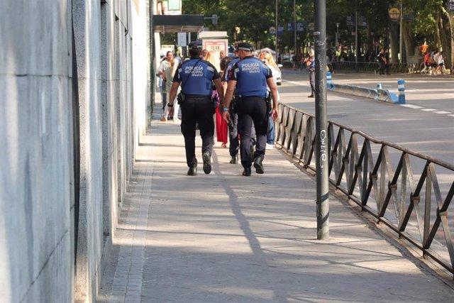 Imagn de recurso de dos agentes de la Policía Municipal de Madrid.