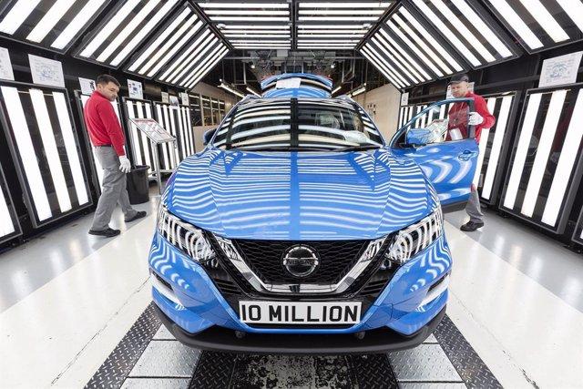 Producción de Nissan en la planta de Sunderland (Reino Unido)