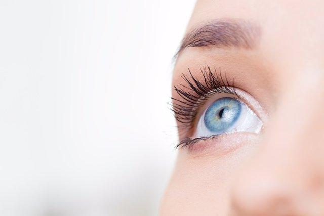 Female eye macro shot