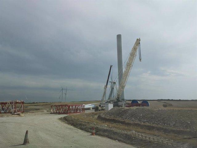 Enel Green Power inicia la construcción del parque eólico de 35MW en Villamayor de Gállego promovido por BBVA con Endesa.