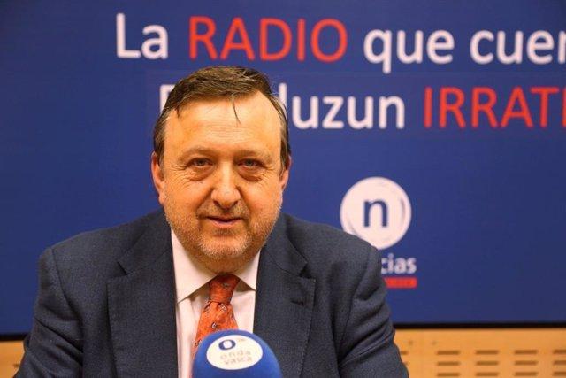 El presidente del ABB del PNV, José Antonio Suso, entrevistado en Onda Vasca (archivo)