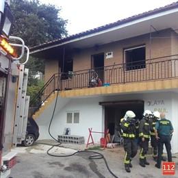 Incendio en una vivienda de Alceda