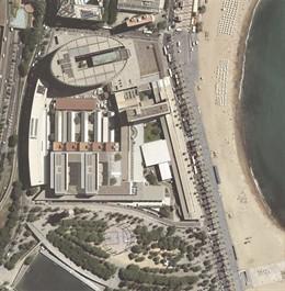 Visión aérea de la segunda ampliación del Hospital del Mar