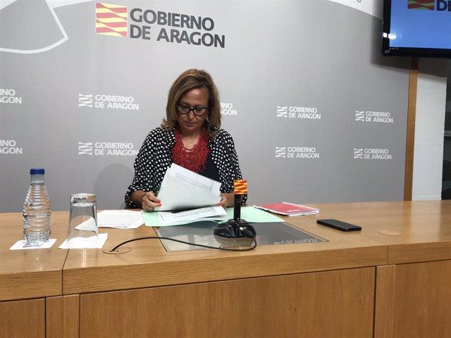 La consejera de Presidencia del Gobierno de Aragón, Mayte Pérez.