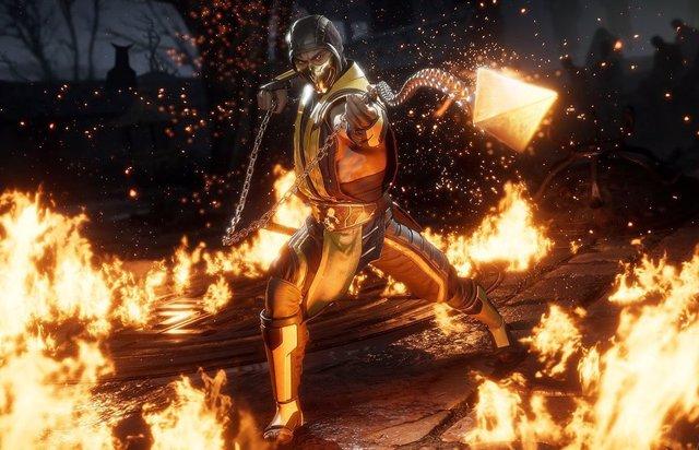 Scorpion, uno de los luchadores clásicos de Mortal Kombat