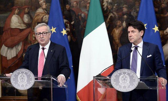 """Italia.- Juncker traslada a Conte sus """"mejores deseos"""" para formar Gobierno"""