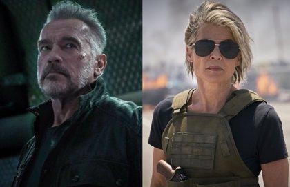 Arnold Schwarzenegger y Linda Hamilton, juntos en nuevas fotos de Terminator 6: Destino oscuro