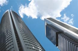 Dos de las torres más altas de Madrid