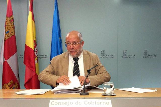 El portavoz y vicepresidente de la Junta de Castilla y León, Francisco Igea, en la rueda de prensa tras el Consejo de Gobierno.