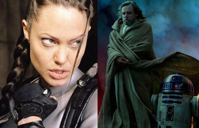 Angelina Jolie y Luke Skywalker en la saga Star Wars