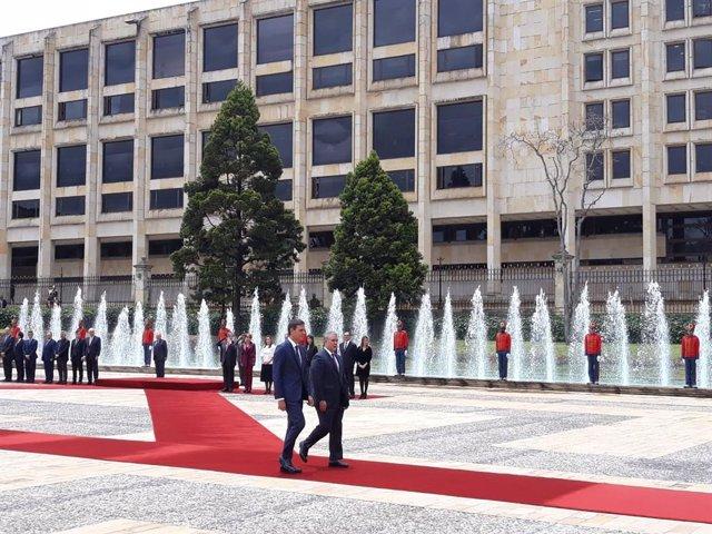 Pedro Sánchez se reúne con el presidente de Colombia, Iván Duque