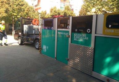 La recollida selectiva de residus a Bon Pastor de Barcelona es duplica amb el nou model mòbil (EUROPA PRESS)