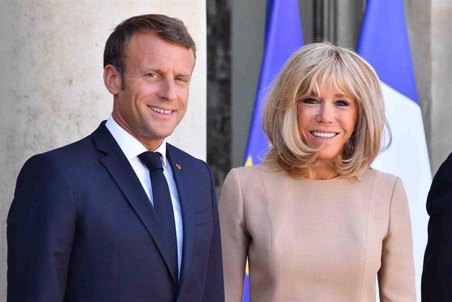 Emmanuel Macron y su mujer, Brigitte