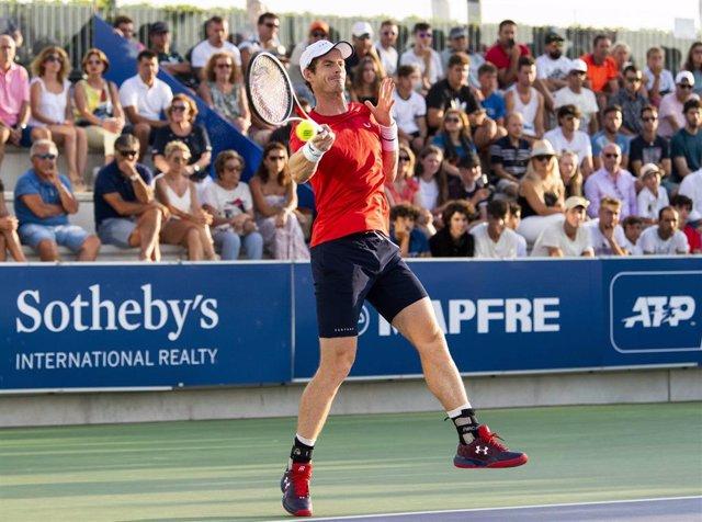 Andy Murray jugando en Mallorca