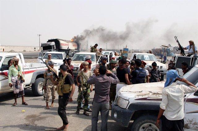 Fuerzas separatistas en Adén