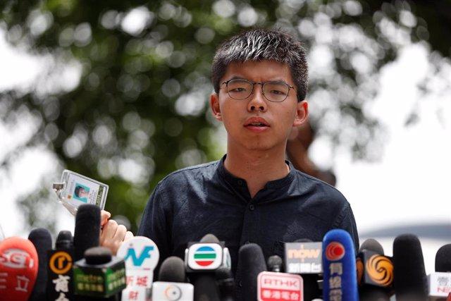 El activista prodemocracia de Hong Kong Joshua Wong