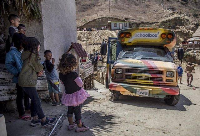 Niños migrantes en México