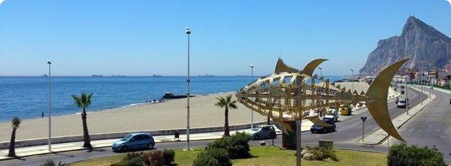 Vista de la ciudad de La Línea