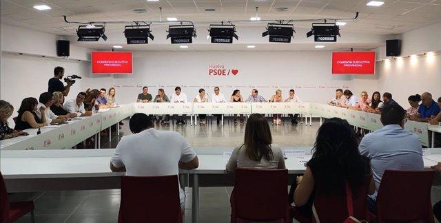 Comisión ejecutiva provincial del PSOE de Huelva.