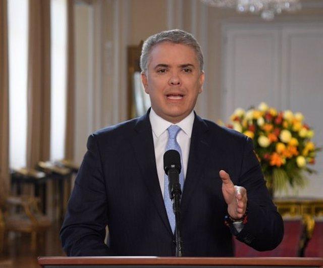 """VÍDEO: Colombia.- Iván Duque avisa de que Colombia """"no acepta amenazas"""" y ofrece"""