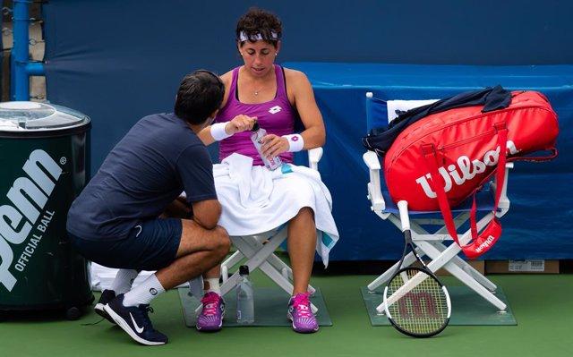 Tenis/US Open.- Carla Suárez rechaza la sanción del US Open por bajo rendimiento