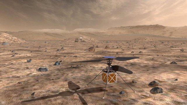 Helicóptero diseñado por la NASA para su futura misión a Marte en 2020