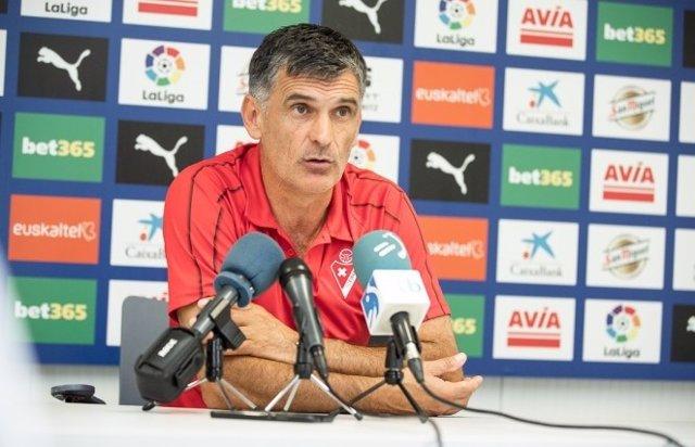 """Fútbol.- Mendilibar: """"El Atleti parece que juega rácano, pero para nada"""""""