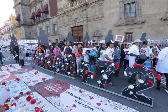 Manifestación de familiares de personas desaparecidas