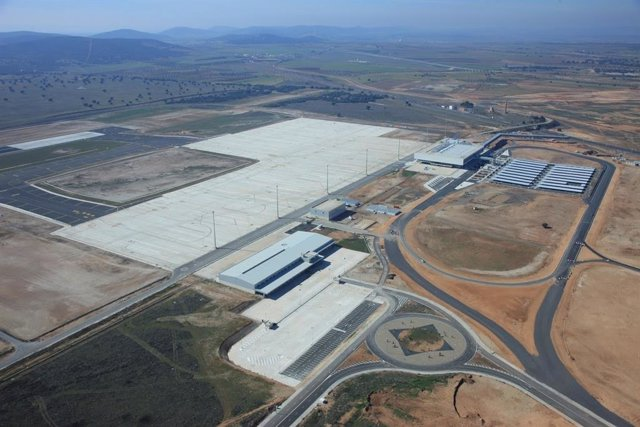 Vista aérea del Aeropuerto de Ciudad Real.