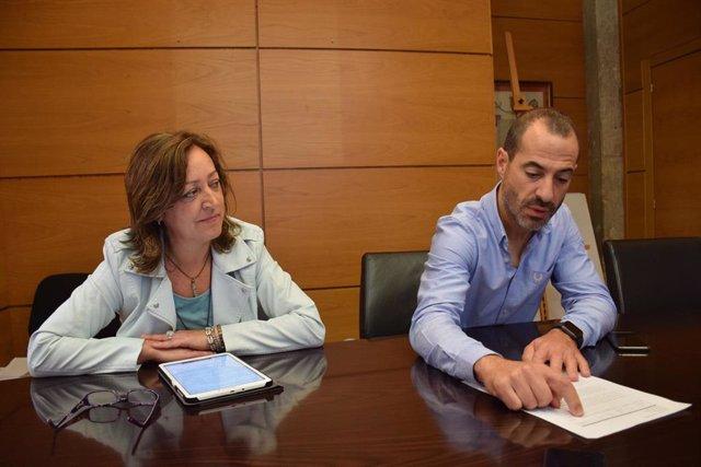 La concejala de Educación y el alcalde de Siero