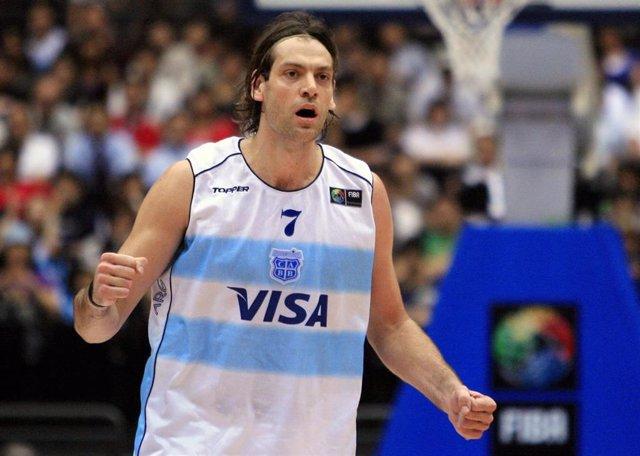 El argentino Fabricio Oberto, en un partido con su selección.