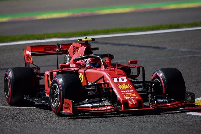 AV.- Fórmula 1/GP Bélgica.- Leclerc (Ferrari) vuela en Spa y Vettel completa el