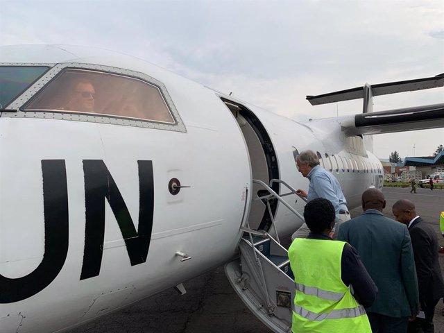 Antonio Guterres, secretario general de Naciones Unidas, viaja al epicentro de la crisis del ébola