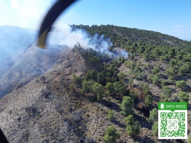 Incendio forestal en Quesada (Jaén)