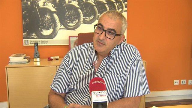 El director del Servei Català de Trànsit (SCT), Juli Gendrau, en una entrevista d'Europa Press.