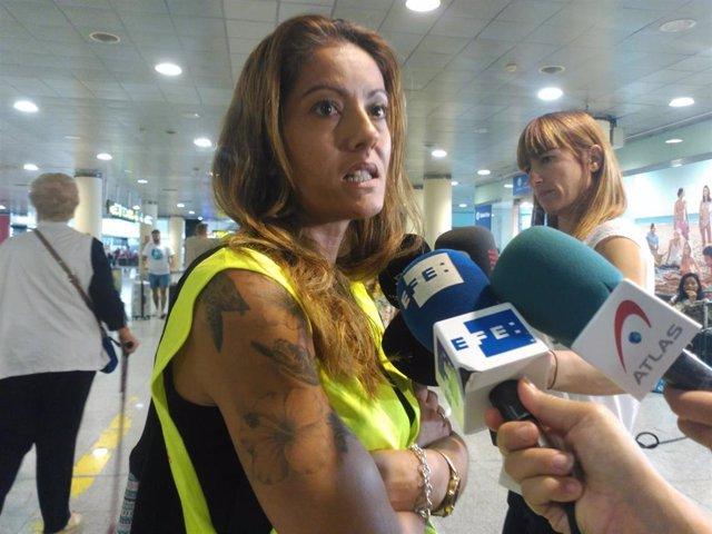 La portavoz de Unión Sindical Obrera (USO) Ryanair, Lidia Arasanz