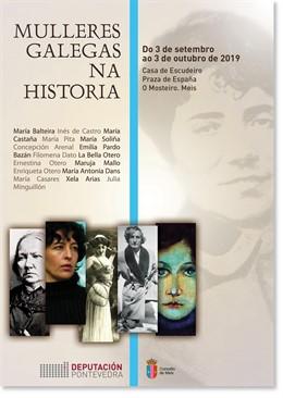 Cartel de la exposición 'Mulleres galegas na historia'