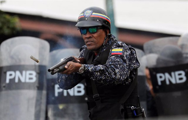 Agentes de la Policía Nacional Bolivariana (PNB) de Venezuela