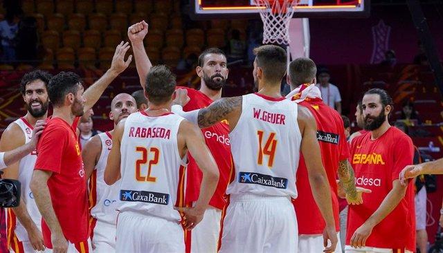 Marc Gasol con la selección española de baloncesto en el Mundial de baloncesto de China