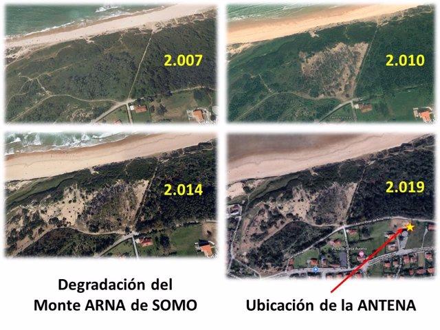 Degradación del Monte Arna en Somo