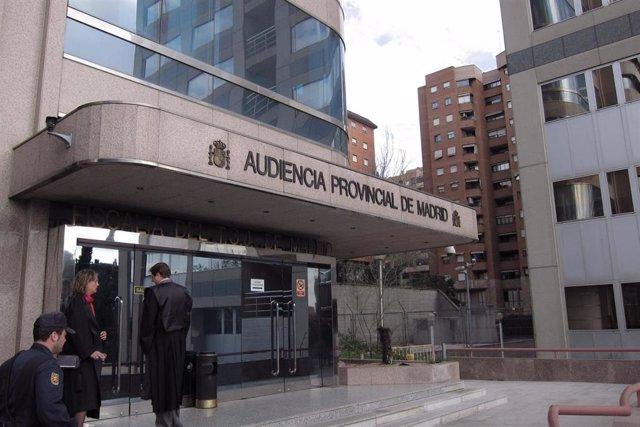 Imagen de archivo de la Audiencia de Madrid