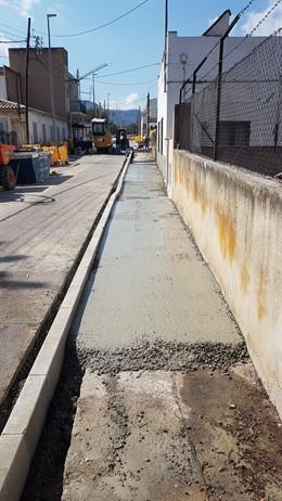 Obras en la calle Molí d'es Compte de Establiments